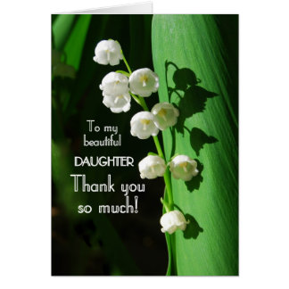 Thank You Daughter Lily of the Valley Card