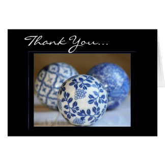 Thank You Decorative blue spheres card