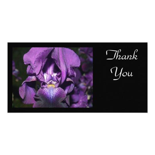 Thank You-Deep Purple Iris Card