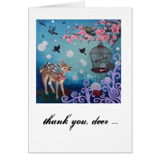 Thank you, deer.. Card, white envelopes included Card