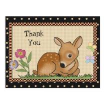 Thank You Deer cartoon postcard