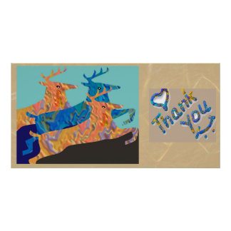 Thank You - Deer Collection Abstract Posters