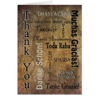 THANK YOU - DIFFERENT LANGUAGES CARD