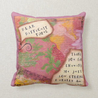 Thank you Difficult Times - Colorful Fine Art Throw Pillow