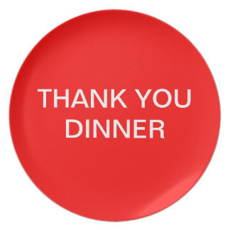Thank you dinner plate