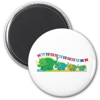 THANK you Dinosaurs cute! 2 Inch Round Magnet