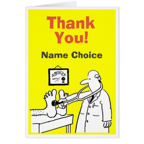 Thank You Doctor Card to Personalise Inside