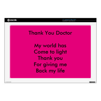 Thank you doctor skin for laptop
