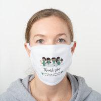 Thank you Doctors, Nurses Healthcare White Cotton Face Mask