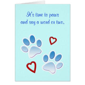 Thank You: Dog Walker, Dog Sitter or Dog Groomer Card