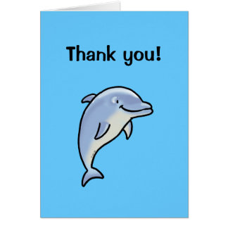 Thank you! (dolphin) greeting cards