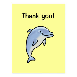 Thank you! (dolphin) post cards