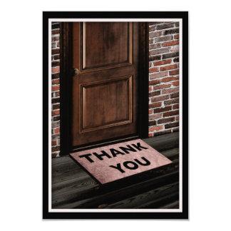 thank you door mat card