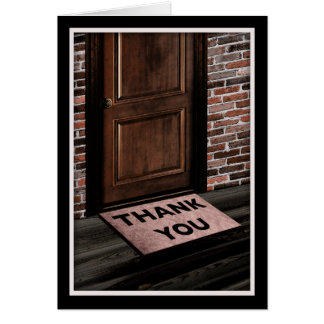 thank you door mat card