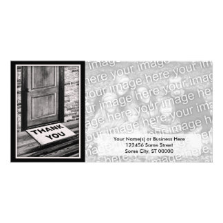 thank you door mat photograph card