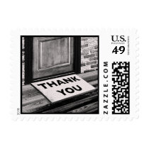 thank you door mat photograph postage