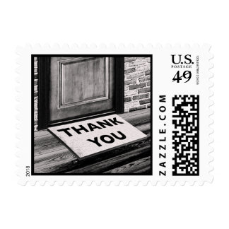 thank you door mat photograph postage