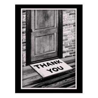 thank you door mat photograph postcard