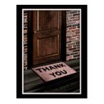 thank you door mat postcard