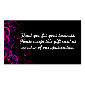 Thank you Double-Sided standard business cards (Pack of 100)