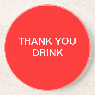 Thank you drink coaster