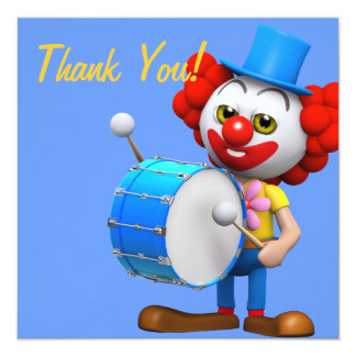 Thank You! Drummer Clown Thankyou Card