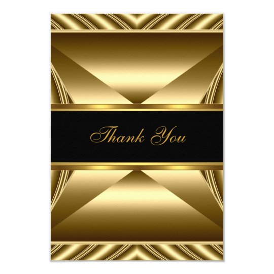 Thank You Elegant 30th Birthday Exotic Rich Gold Card