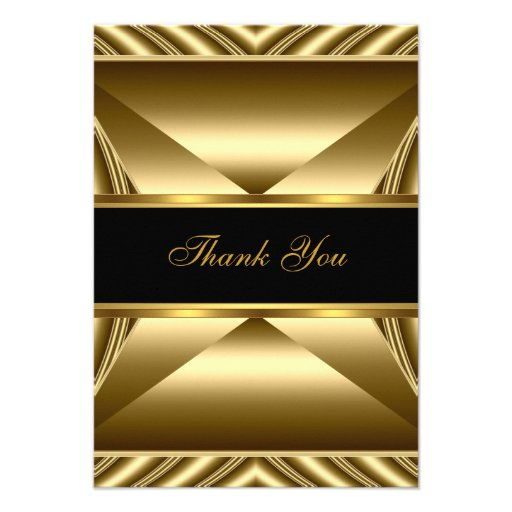 Thank You Elegant 30th Birthday Exotic Rich Gold Custom Invites