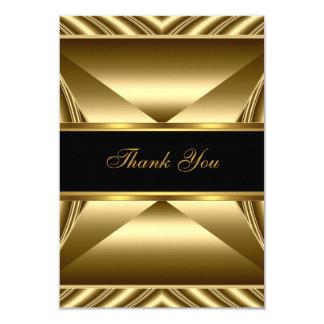 "Thank You Elegant 30th Birthday Exotic Rich Gold 3.5"" X 5"" Invitation Card"