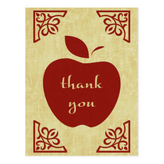 thank you : elegant apple postcard