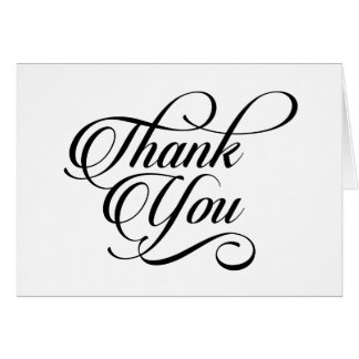 Thank You Elegant Modern Stylish Script Card