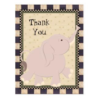 Thank You Elephant Cartoon Postcard