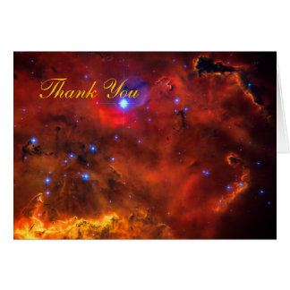 Thank You - Emission Nebula in Puppis Greeting Card