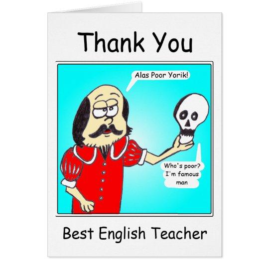 Thank You - English Teacher Card