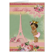 Thank You Ethnic Paris Princess Baby Shower Card