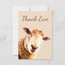 Thank You Ewe Sheep Animal Humor