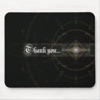 "Thank You ""Eyeball"" Fractal Art Mouse Pad"