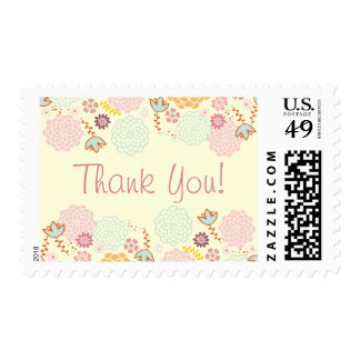 Thank You Fancy Modern Floral Stamp