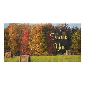 Thank You Farm Scene Custom Photo Card