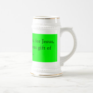 Thank You, Father, for Jesus, Beer Stein