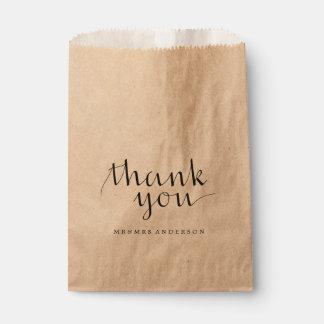 Thank You Favor Bags   WEDDINGS