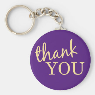 Thank You Favor Keychain