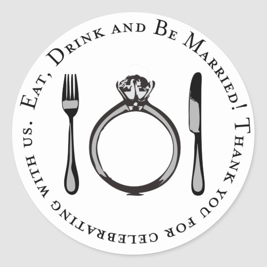 Thank You Favor Sticker | Eat, Drink & Be Married