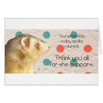 Thank you Ferret card