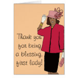 Thank you first lady card