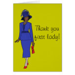 Thank you first lady greeting card