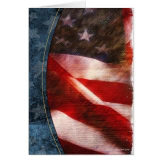 Thank You Flag-2 Blank Card