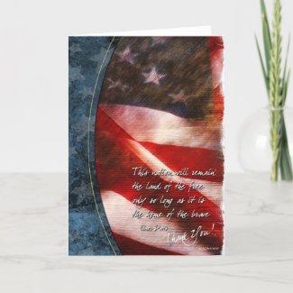 Thank You Flag-2 card
