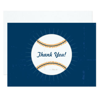Thank You Flat Note Cards | Baseball Theme