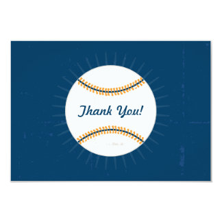 Thank You Flat Note Cards | Baseball Theme Invite